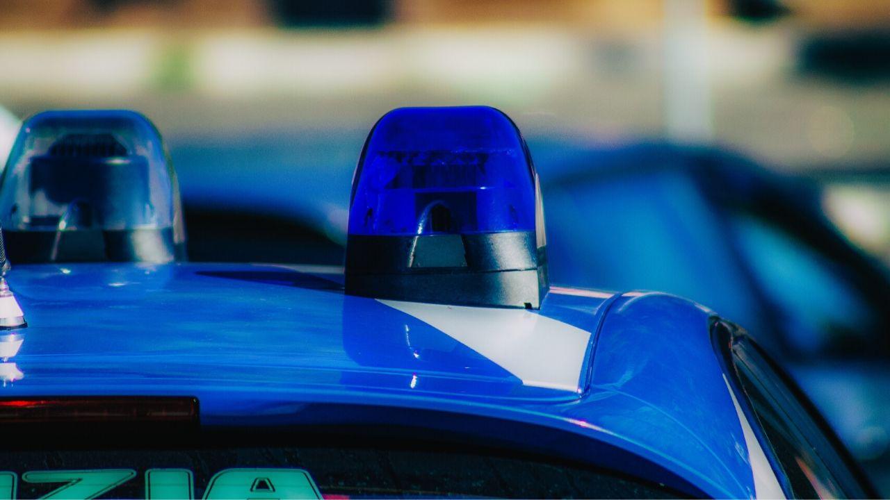 sirene dell'auto della polizia