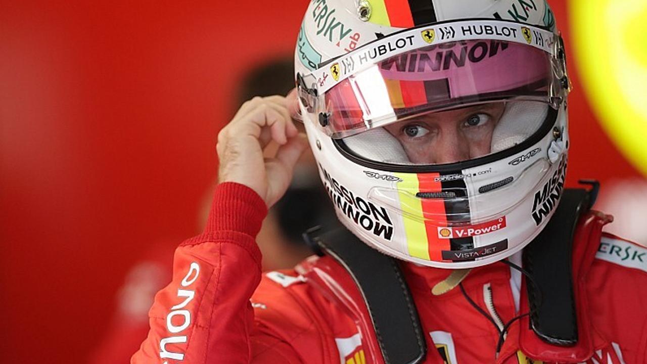 Sebastian Vettel a Yas Marina