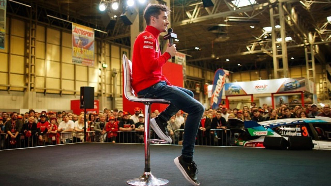 Charles Leclerc in conferenza stampa