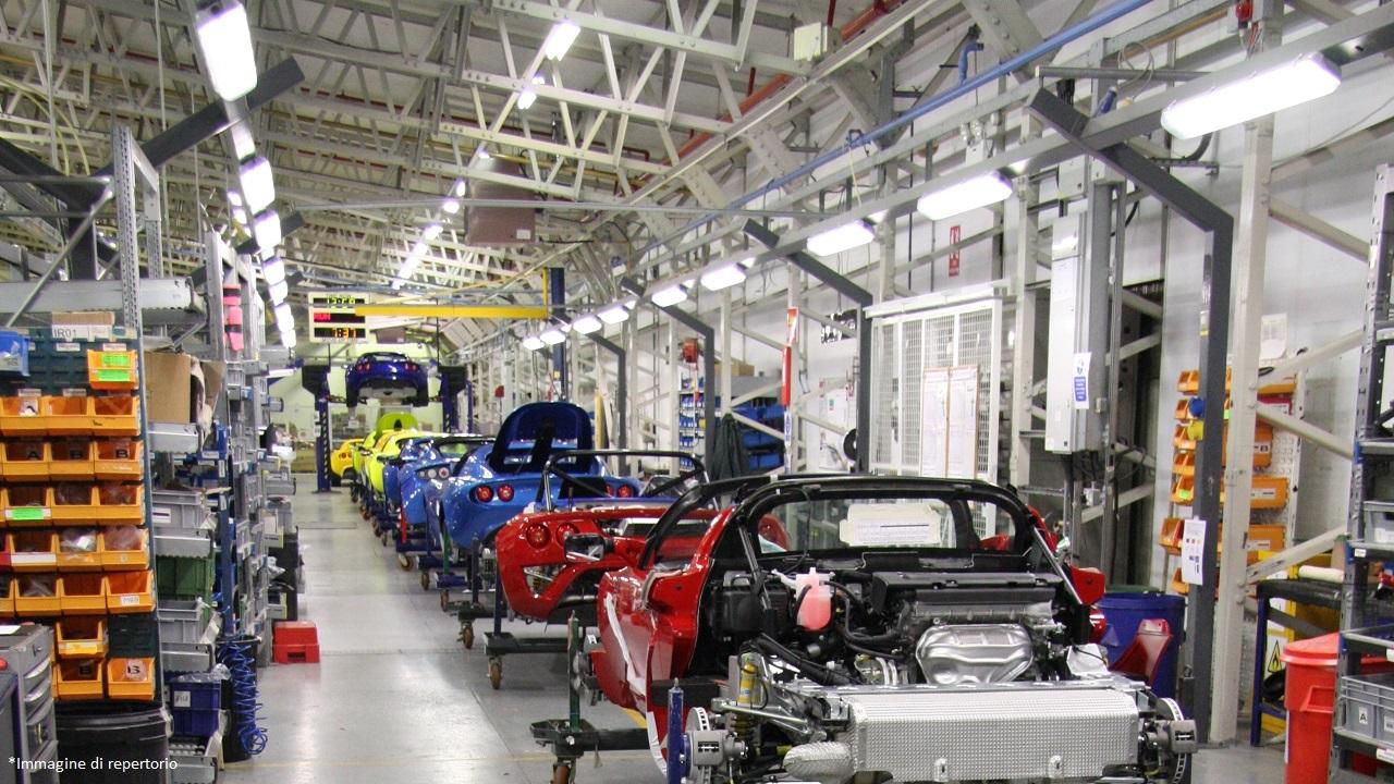 Linea di assemblaggio Lotus Cars