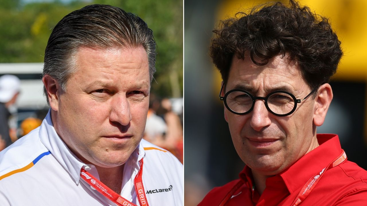 botta e risposta tra zak brown e mattia binotto sul budget cap dei team in f1