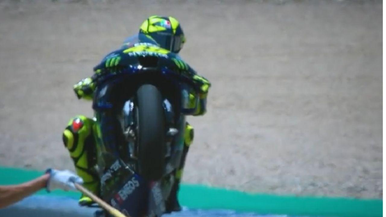 Valentino Rossi sul podio