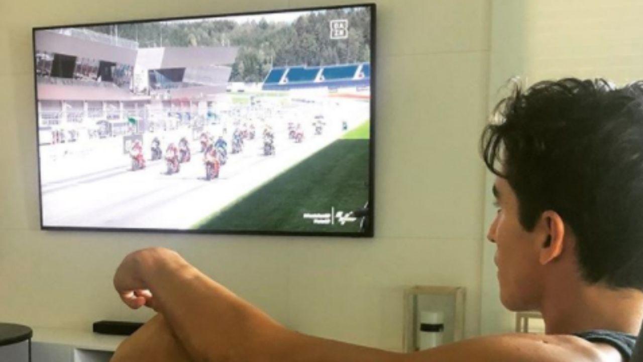 Marquez guarda la gara in TV